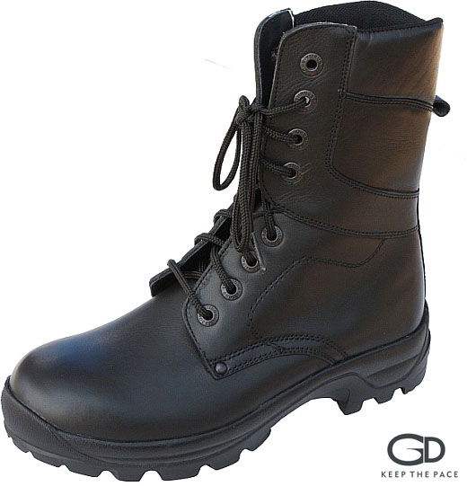 Genuine Black Waterproofed Leather 2.0-2.2mm Thick| Two Layer Rubber Sole| Leather lining|  Soft Collar| Sizes 39 - 45