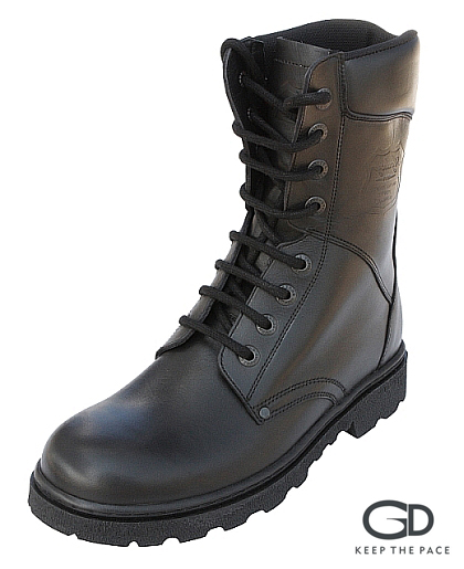 Genuine Leather  Waterproofed 2.0 - 2.2mm Thick| Thermo-resistant Two Layer Rubber Sole| Side Zipper| Leather lining| Eyelet Lacing System| Soft Collar| Sizes 39 - 45