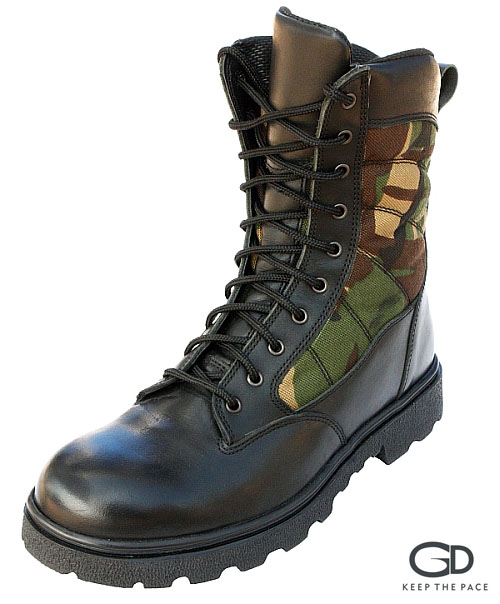 Genuine Black Waterproofed Leather 2.0-2.2mm Thick| CORDURA® Camouflage Fabric| Sympatex® Lining| Antistatic & High Resistance Sole Strong Grip Sole| Sizes 39 - 45