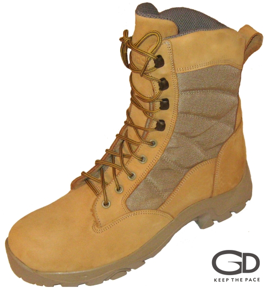 Genuine Beige Waterproofed Leather 2.0-2.2mm Thick| CORDURA® Beige Fabric| Two Layer Rubber Sole - TR & Polyurethane Lining - Regular/Waterproof| Height (size 42) - 24 cm| Sizes 39 - 45