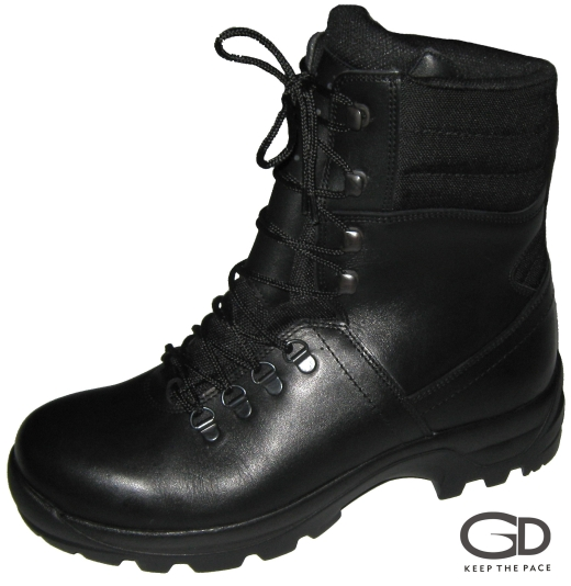 Genuine Black Waterproofed Leather 2.0-2.2mm Thick| Leather thickness 2.0 - 2.2 mm| CORDURA® Black Fabric| Two Layer Rubber Sole - TR & Polyurethane| Lining - Regular/Waterproof| Height (size 42) - 21 cm | Sizes 39 - 45